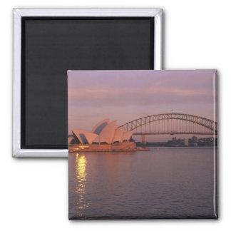 Australia, Sydney, Sydney Opera House built Square Magnet