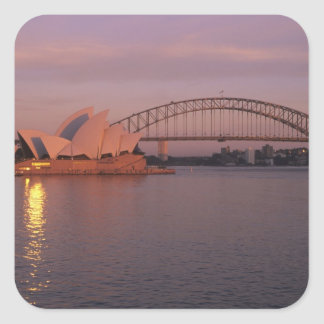 Australia, Sydney, Sydney Opera House built Square Sticker