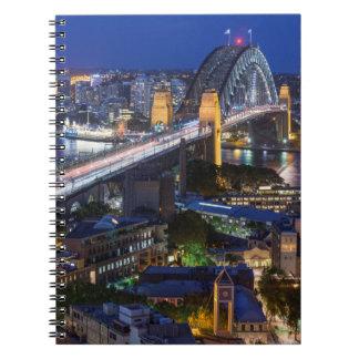 Australia, Sydney, The Rocks area, Sydney Harbor Spiral Notebook