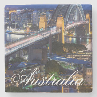 Australia, Sydney, The Rocks area, Sydney Harbor Stone Coaster