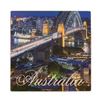 Australia, Sydney, The Rocks area, Sydney Harbor Wood Coaster