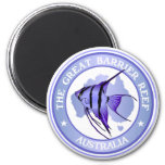 Australia -The Great Barrier Reef 6 Cm Round Magnet