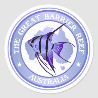 Australia -The Great Barrier Reef Round Stickers