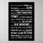 Australia - typographic poster