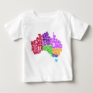 Australia Typographic Text Map Baby T-Shirt