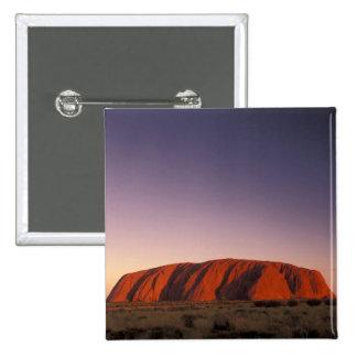 Australia, Uluru Kata Tjuta National Park, Uluru 2 15 Cm Square Badge