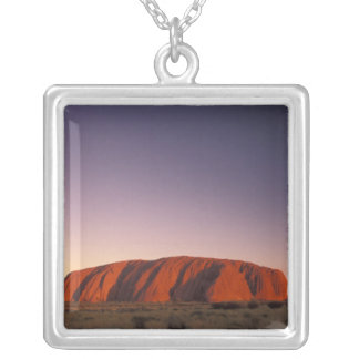 Australia, Uluru Kata Tjuta National Park, Uluru 2 Silver Plated Necklace