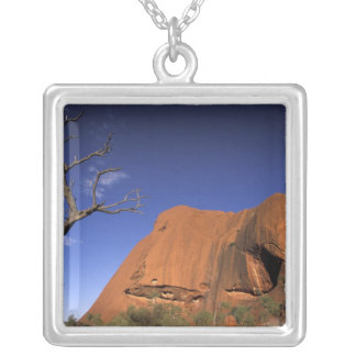 Australia, Uluru Kata Tjuta National Park, Uluru Silver Plated Necklace