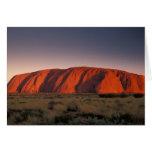 Australia, Uluru National Park. Uluru or Greeting Card