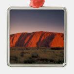 Australia, Uluru National Park. Uluru or Silver-Colored Square Decoration