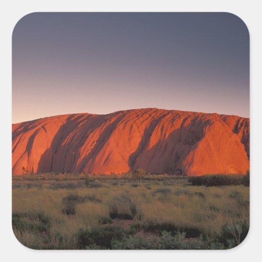 Australia, Uluru National Park. Uluru or Square Sticker