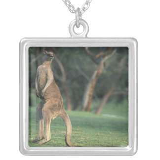 Australia, Vic. Kangaroo on the Anglesea Golf Silver Plated Necklace