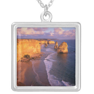 Australia, Victoria. 12 Apostles, Port Silver Plated Necklace