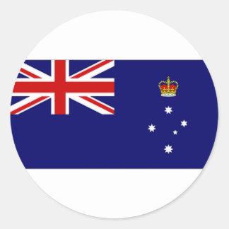 Australia Victoria Flag Classic Round Sticker