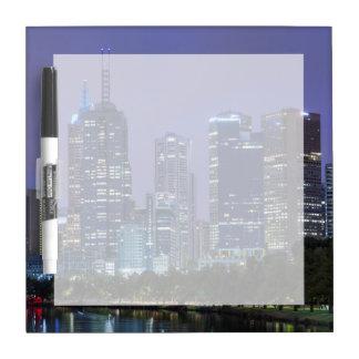 Australia, Victoria, Melbourne, skyline along Dry Erase Board