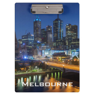 Australia, Victoria, Melbourne, skyline with Clipboard