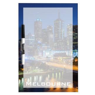 Australia, Victoria, Melbourne, skyline with Dry Erase Board