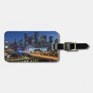 Australia, Victoria, Melbourne, skyline with Luggage Tag