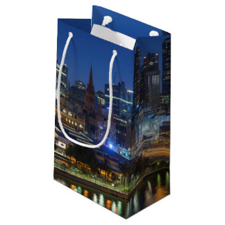 Australia, Victoria, Melbourne, skyline with Small Gift Bag