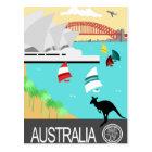 Australia vintage poster postcard