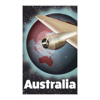 Australia vintage vacation poster canvas print