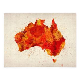 Australia Watercolor Map Art Print Photo Print