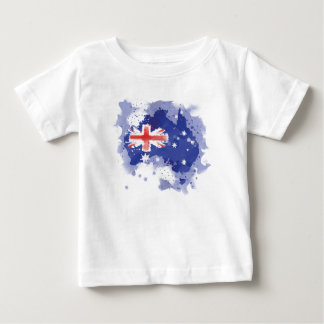Australia Watercolor Map Baby T-Shirt