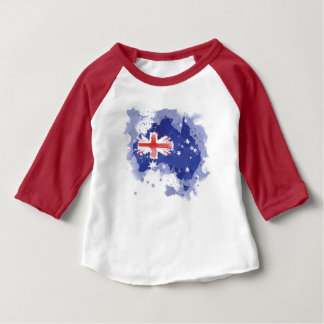 Australia Watercolor Map Baby T-Shirt