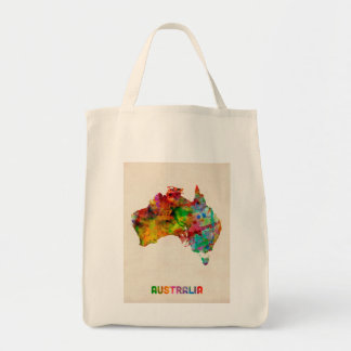 Australia Watercolor Map Tote Bag