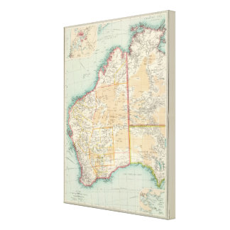 Australia western section canvas print