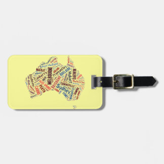 Australia Word Art Luggage Tag