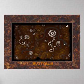 Australian Aboriginal Desert Art History Poster IV