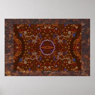 Australian Aboriginal Desert Art Poster