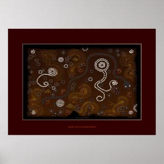 Australian Aboriginal Desert Art Poster IV