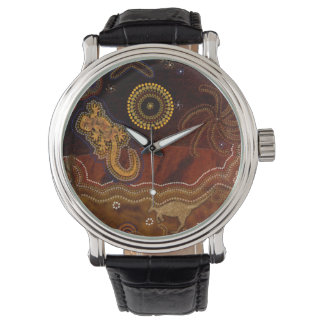 Australian Aboriginal Desert Outback themed Art II Watch