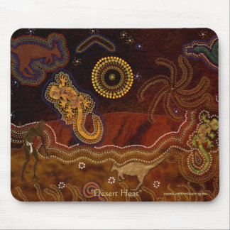 Australian Aborigines Hunting Kangaroo & Geckos Mouse Mat
