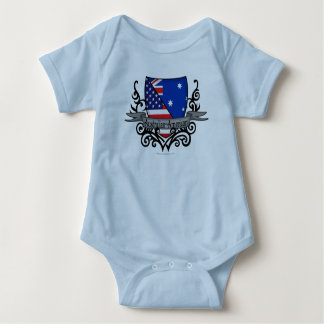 Australian-American Shield Flag Baby Bodysuit