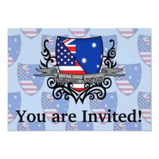 "Australian-American Shield Flag 5"" X 7"" Invitation Card"