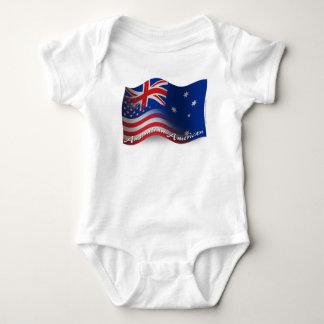 Australian-American Waving Flag Baby Bodysuit