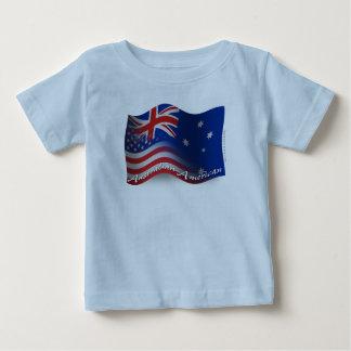 Australian-American Waving Flag Baby T-Shirt
