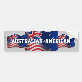 Australian-American Waving Flag Bumper Sticker