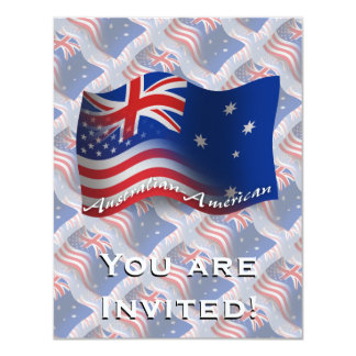 Australian-American Waving Flag Card