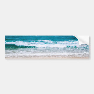Australian Beach with Blue Waves Bumper Sticker