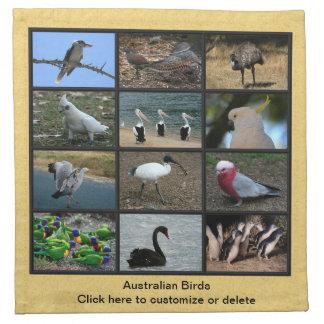 Australian Birds Printed Napkins