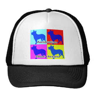 Australian Blue Heelers Color Wall Cap