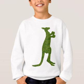 Australian Boxing Kangaroo with Slang Typography Sweatshirt
