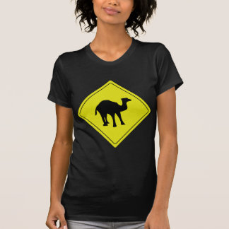 australian camel roadsign yellow T-Shirt