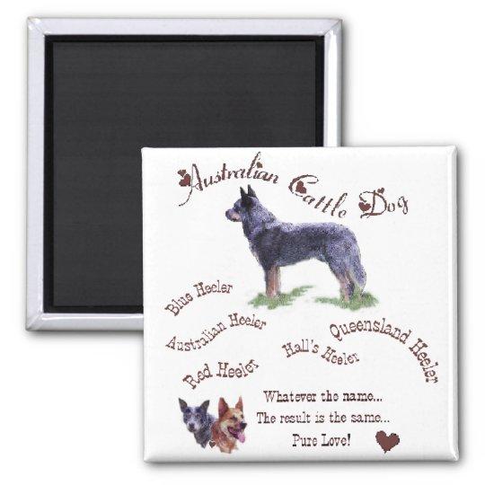 Australian Cattle Dog Art Gifts Square Magnet