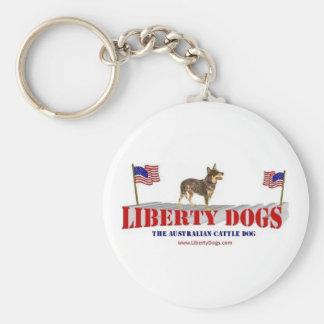 Australian Cattle Dog Basic Round Button Key Ring