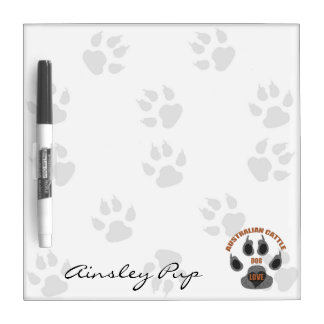 Australian Cattle Dog Breed Custom Dry Erase Board